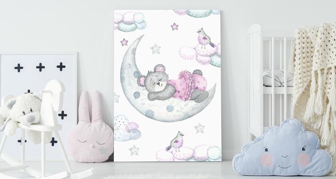 Pastelowy obraz do pokoju dziecka