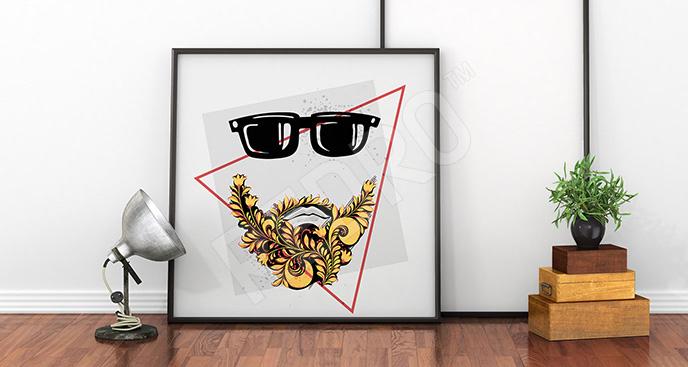 Plakat abstrakcyjny dla hipsterów