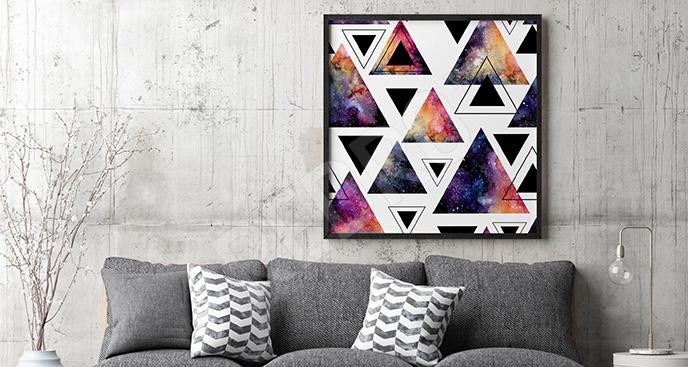 Plakat abstrakcyjny motyw galaxy