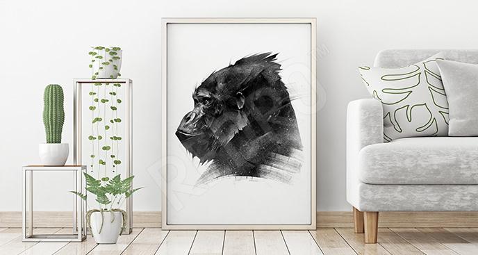 Plakat Afryka: goryl