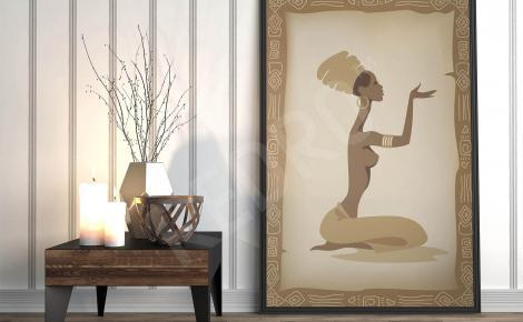 Plakat afrykańska kobieta
