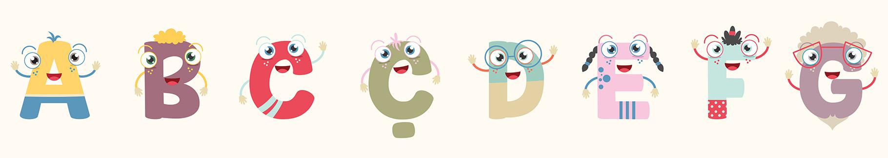 Plakat alfabet do dziecięcego pokoju