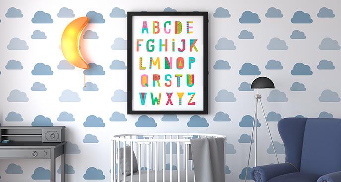 Plakat alfabet kolorowy