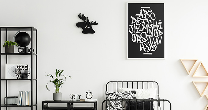 Plakat alfabet w stylu grafitti