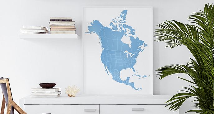 Plakat Ameryka Północna