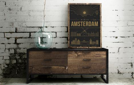 Plakat Amsterdam – pocztówka