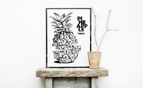 Plakat ananas styl minimal