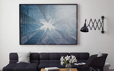 Plakat architektoniczna abstrakcja