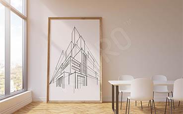 Plakat architektoniczny szkic