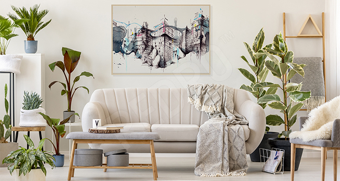 Plakat architektura abstrakcyjna