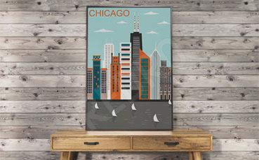 Plakat architektura Chicago