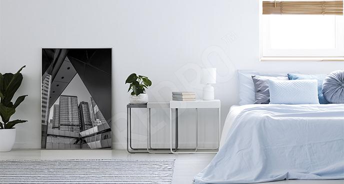 Plakat architektura czarno-biała