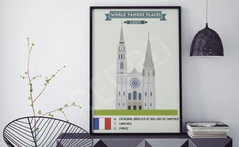 Plakat architektura Francji