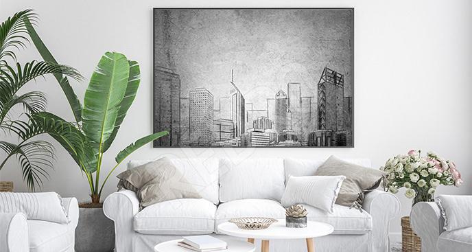 Plakat architektura miejska