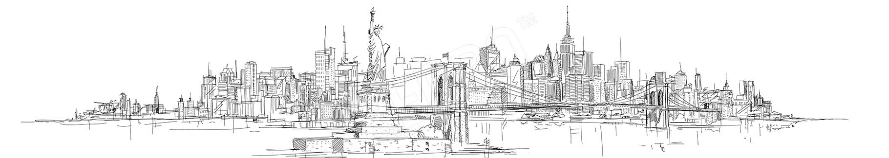 Plakat architektura Nowego Jorku