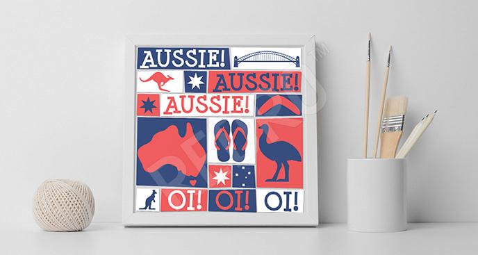 Plakat Australii dla nastolatka