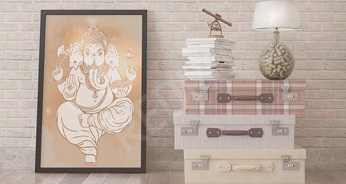 Plakat Azja: mitologiczne bóstwo