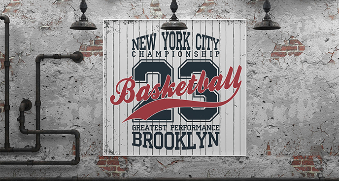 Plakat basketball dla nastolatka