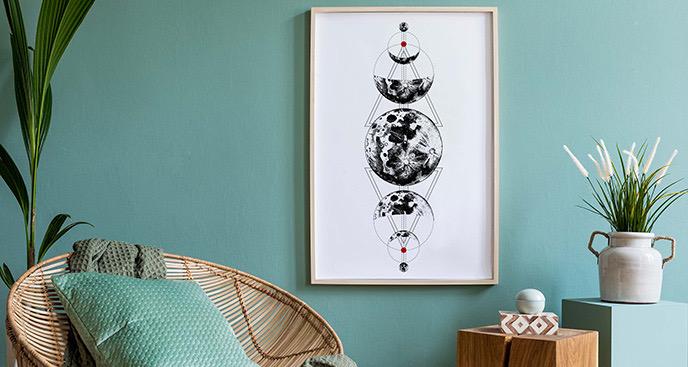 Plakat boho – astrologia