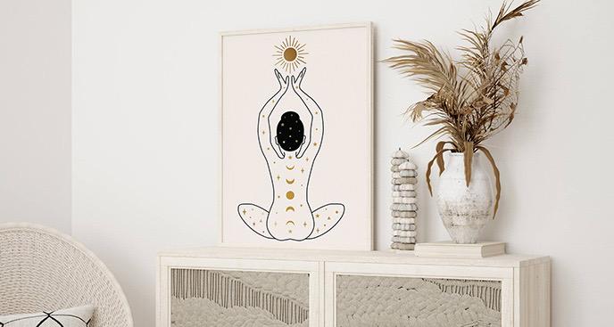 Plakat boho – medytacja