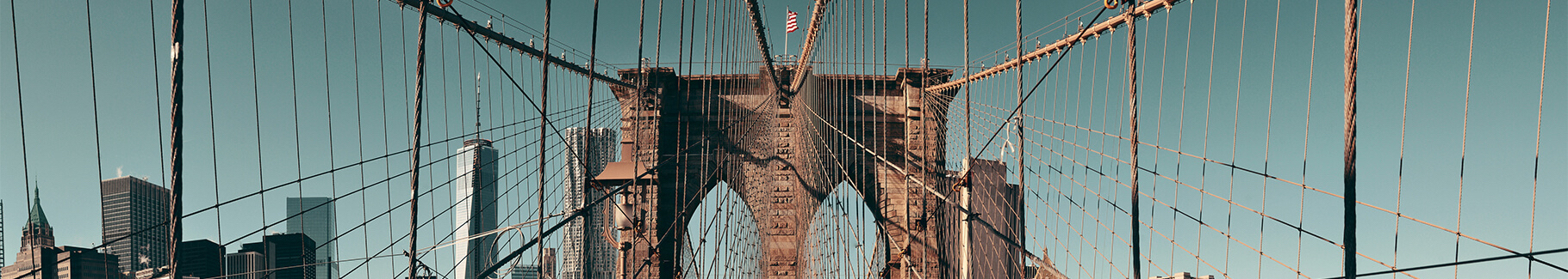 Plakat Brooklyn Bridge latem