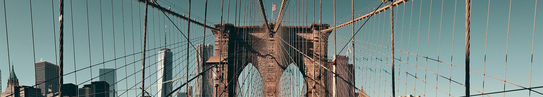 Plakat widok na Most Brookliński