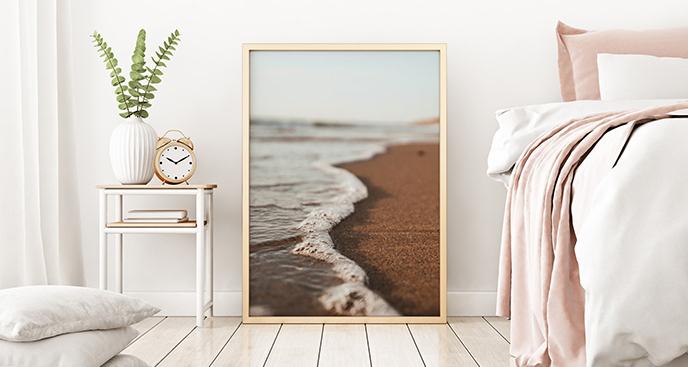 Plakat brzeg morza