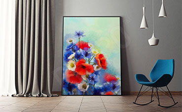 Plakat bukiet polnych kwiatów