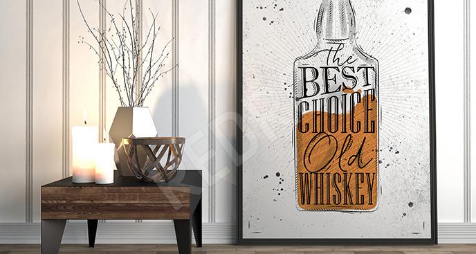 Plakat butelka whiskey
