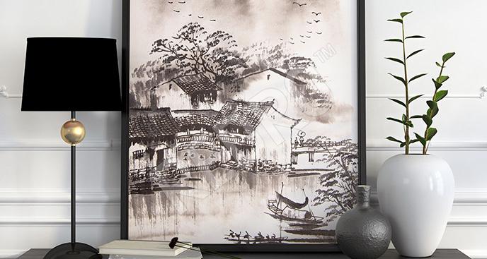 Plakat chińska ilustracja