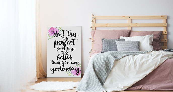 Plakat cytat do sypialni
