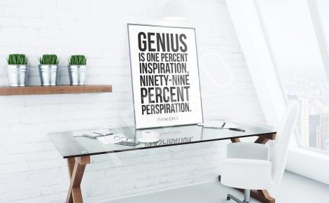 Plakat cytat minimalistyczna grafika