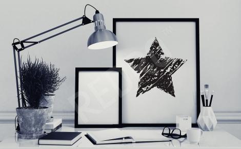 Plakat czarna gwiazda