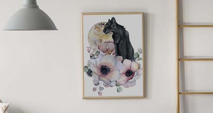 Plakat czarna pantera