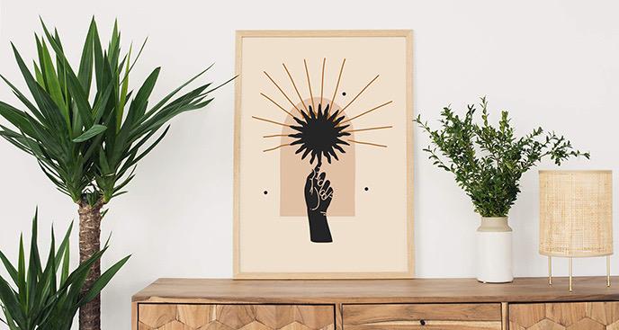 Plakat czarne słońce