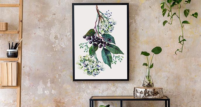 Plakat kwiat rumianku