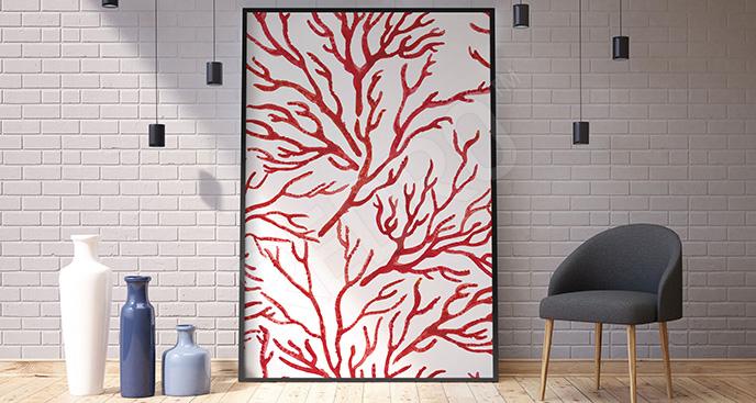 Plakat czerwony koralowiec