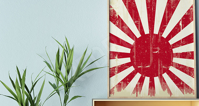 Plakat dawna flaga Japonii