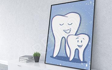 Plakat dentystyczny zęby
