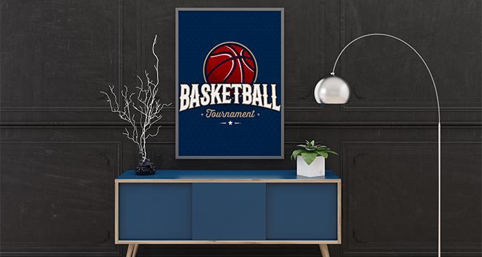 Plakat dla fana koszykówki