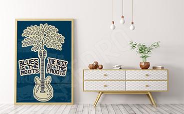 Plakat dla fanów bluesa