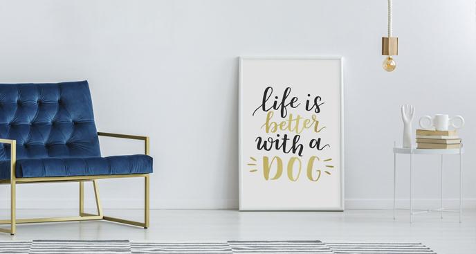 Plakat dla miłośników psów