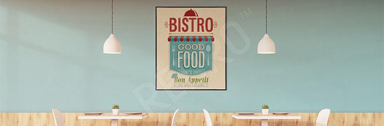 Plakat do bistro w stylu vintage