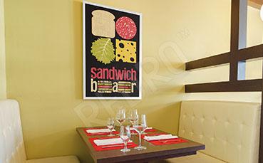 Plakat do bistro z kanapkami