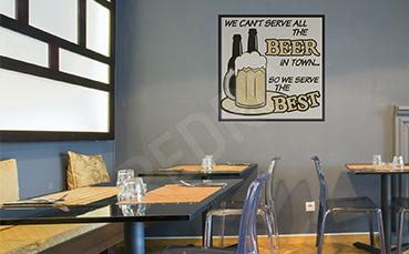 Plakat do bistro z kuflem piwa