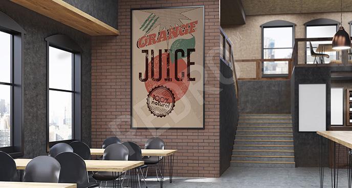Plakat do bistro z sokami