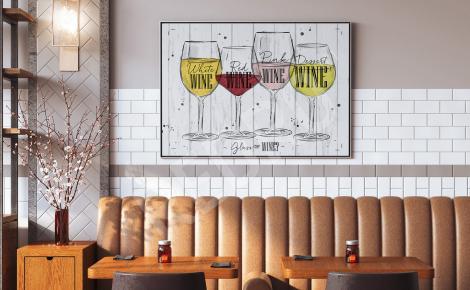 Plakat do bistro z winem