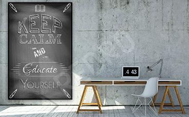 Plakat do biura czarno-biały