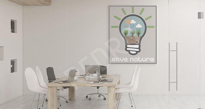Plakat do biura ekologiczny