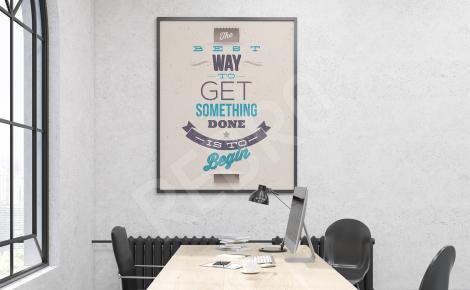 Plakat do biura motywacyjny